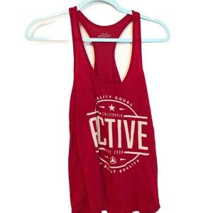 Active Ride Shop Red Racerback Relax Fit Tank Top